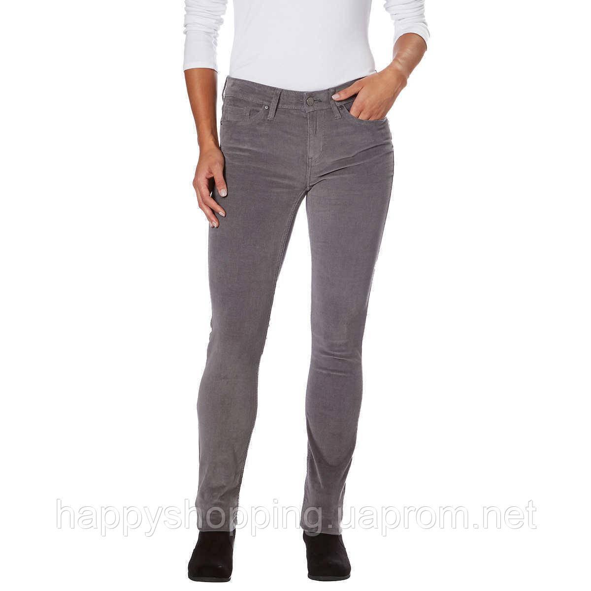 Женские серые вельветовые  джинсы популярного бренда Calvin Klein Jeans