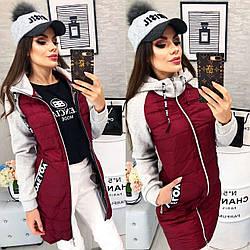 Куртка жіноча ЕвроЗима, модель 768/2, колір - бордо