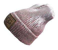 Женское тёплая шапка с напылением