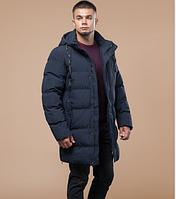 Молодежная удлиненная зимняя куртка Braggart Youth темно-синяя топ реплика