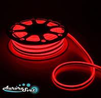 Гибкий LED неон красный 220 В защита IP67. Светодиодная гирлянда. Гирлянда LED., фото 1