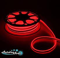 Гнучкий LED неон червоний 220 В захист IP67. Світлодіодна гірлянда. Гірлянда LED.