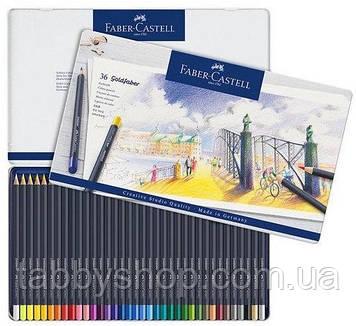 Кольорові олівці Faber Castell GOLDFABER 114736 в металевій коробці (36 кол.)