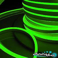 Гнучкий LED неон зелений 220 В захист IP67. Світлодіодна гірлянда. Гірлянда LED.