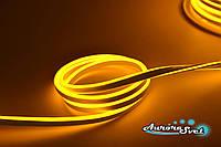 Гибкий LED неон оранжевый 220 В защита IP67. Светодиодная гирлянда. Гирлянда LED. , фото 1