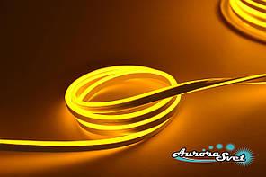 Гнучкий LED неон помаранчевий 220 В захист IP67. Світлодіодна гірлянда. Гірлянда LED.