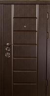 """Канзас Венге южное. Двери входные. Серия """"Элит Mottura"""" (три трубы, квартира)"""