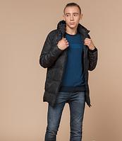Молодежная куртка зимняя Braggart Youth черный камуфляж топ реплика