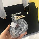 Сумка Майкл Корс Michael Kors Selma 28 і 32 см, натуральна шкіра, колір чорний, фото 4