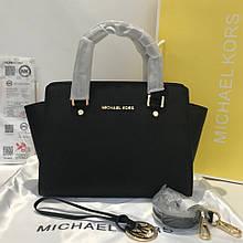 Сумка Майкл Корс Michael Kors Selma  32 см натуральная кожа, цвет черный