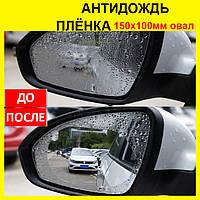 Пленка на зеркала заднего вида 150х100 мм. Антидождь для стекла автомобиля, aquapel, аквапель, anti-fog
