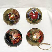 Елочные шары шкатулки на Новый год с чаем Curtis