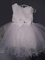 Детское нарядное бальное новогоднее платье с бантом