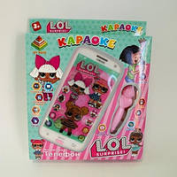 Интерактивный детский телефон караоке  лол, фото 1
