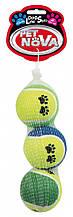 Теннисные мячи c принтом Pet Nova 6см (3шт)