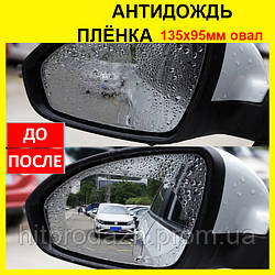 Пленка на зеркала заднего вида 135х95 мм. Антидождь для стекла автомобиля, aquapel, аквапель, anti-fog