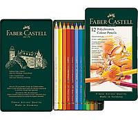 Набор цветных карандашей Faber Castell POLYCHROMOS 110012 в металлической коробке (12 цв.)