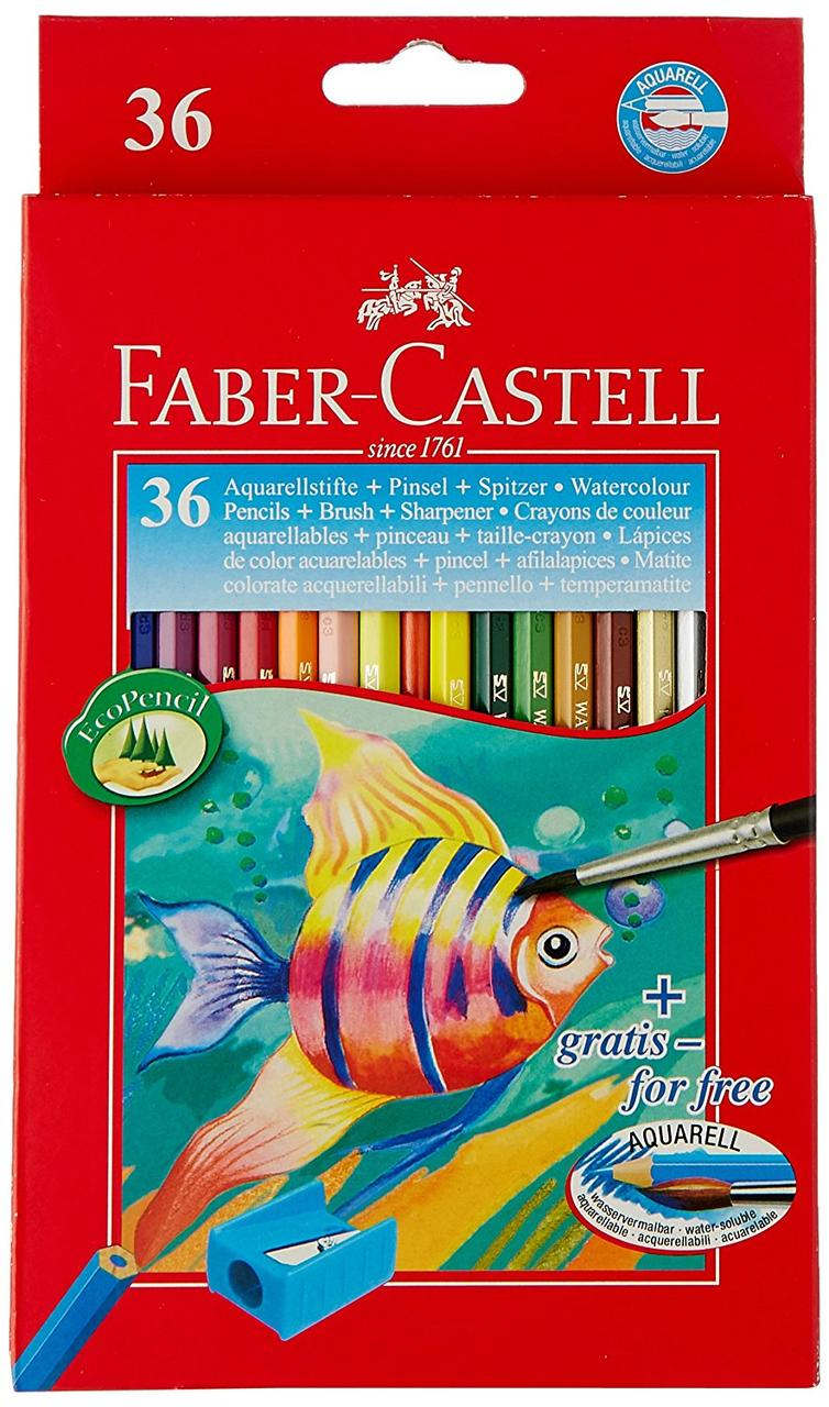 Акварельные цветные карандаши Faber Castell 114437 (36 цв.)