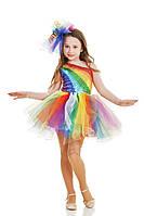 Радуга в юбке-пачке карнавальный костюм для девочки \ размер 110-116; 122-128, 134-140 \ BL - ДС186