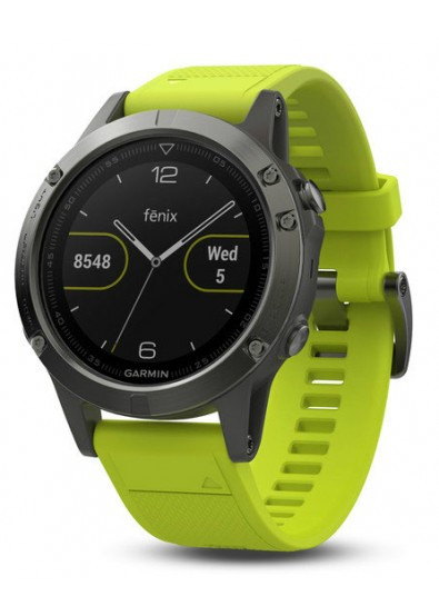 Спортивные часы Garmin Fenix 5 - 010-01688-02 Slate grey with amp yellow band