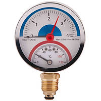 Термоманометр нижнее подключение 4 бар SD
