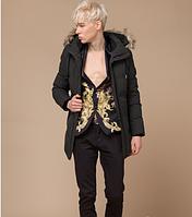 Молодежная куртка зимняя Braggart Youth цвета кофе топ реплика