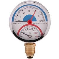 Термоманометр нижнее подключение 6 бар SD