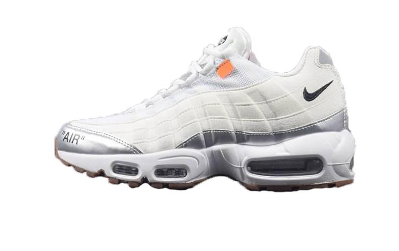 62f67abc Мужские кроссовки Off-White x Nike Air Max 95 White/Silver - FREE CHOICE