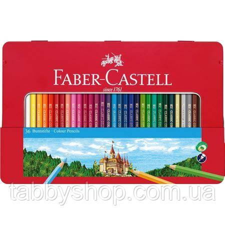 Цветные карандаши Faber Castell CLASSIC 115886 в металлической коробке (36 цв.)