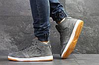 Зимние мужские кроссовки Nike Air Jordan серые   кроссовки мужские зимние  Найк Аир Джодан 3edd357447e