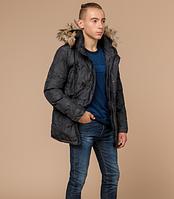 Молодежная куртка зимняя Braggart Youth темно-серая топ реплика