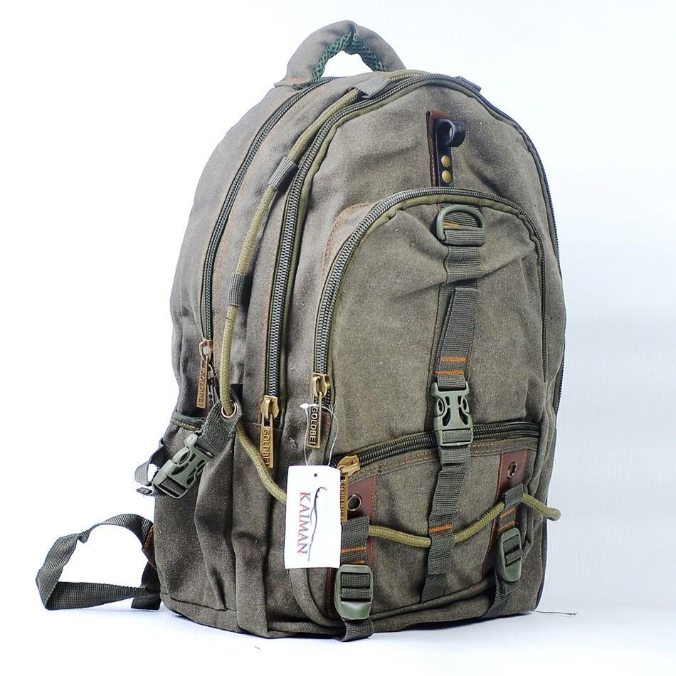 Джынсовый городской мужской рюкзак GOLD BE  оливковый ( 52х32х20 см. V-33 л.)