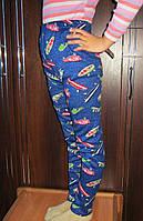 Детские зимние леггинсы на меху для девочки. Размер XXL 6-8 лет