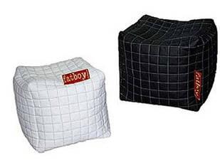 Кубік-пуфік (Чорний, білий) Matroluxe