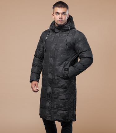 Зимняя куртка-пальто Braggart Youth черный камуфляж топ реплика, фото 2