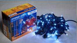 Светодиодная наружная гирлянда STRING 100LED 10m (черный провод,холодный белый цвет диода)