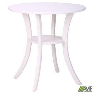 Стіл Класік круглий білий, ніжки білий AMF