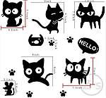 Інтер'єрна наклейка - Чорні коти, фото 2