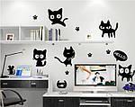 Інтер'єрна наклейка - Чорні коти, фото 3
