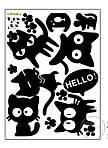 Інтер'єрна наклейка - Чорні коти, фото 4