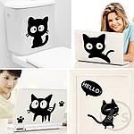 Інтер'єрна наклейка - Чорні коти, фото 5