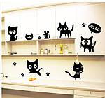 Інтер'єрна наклейка - Чорні коти, фото 6