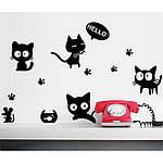 Інтер'єрна наклейка - Чорні коти, фото 7