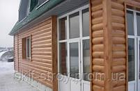 Металлосайдинг Блок-хаус, сайдинг металлический Бревно, Блок-хаус металлический Запорожье, фото 4