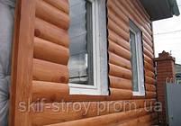 Металлосайдинг Блок-хаус, сайдинг металлический Бревно, Блок-хаус металлический Запорожье, фото 7