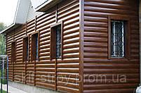 Металлосайдинг Блок-хаус, сайдинг металлический Бревно, Блок-хаус металлический Запорожье, фото 3
