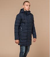 Зимняя удлиненная куртка Braggart Youth синяя топ реплика