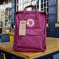 Рюкзак Fjallraven Kanken, розового цвета. Стильный городской рюкзак.