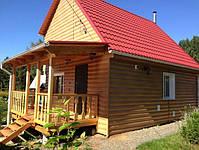 Металлосайдинг Блок-хаус, сайдинг металлический Бревно, Блок-хаус металлический Запорожье, фото 10