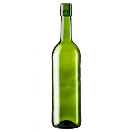 Винная бутылка 0,75 литра (зеленое стекло) под бугельную пробку